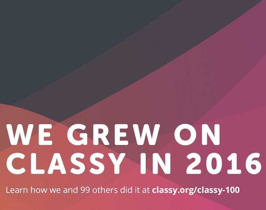 Tap Cancer Out Named to the 2016 Classy 100